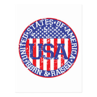 USA Born and Raised Post Cards