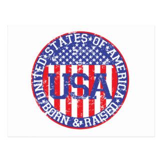 USA Born and Raised Postcards