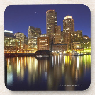 USA, Boston, city skyline at night (long Drink Coaster