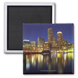 USA, Boston, city skyline at night (long Magnet
