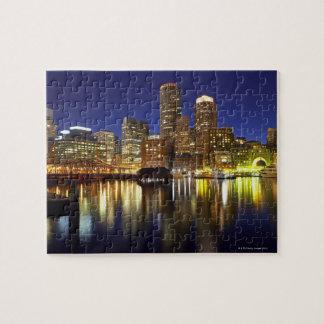 USA, Boston, city skyline at night (long Puzzle