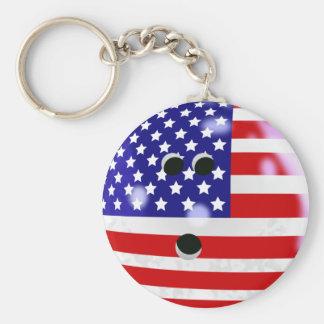 USA Bowling Ball Keychain