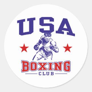 USA Boxing Classic Round Sticker
