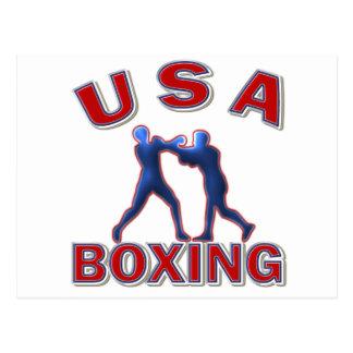 USA BOXING POSTCARD