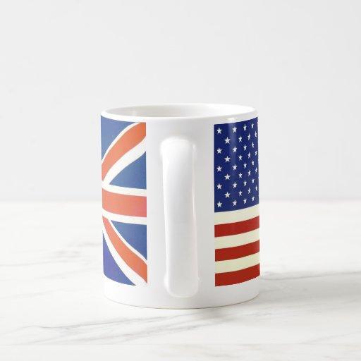 USA British flags Mugs