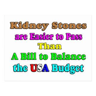 USA Budget 2011 Postcard