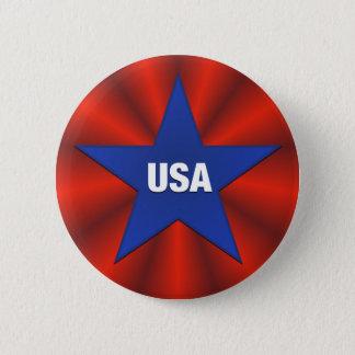 USA Bunting Ribbon Star Button