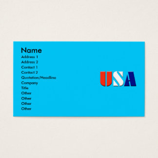 USA. BUSINESS CARD