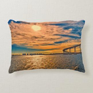 USA, CA, San Diego-Coronado Bay Bridge Decorative Pillow
