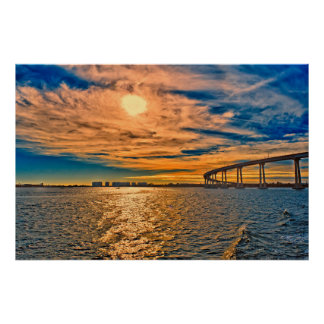 USA, CA, San Diego-Coronado Bay Bridge Poster