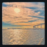 "USA, CA, San Diego-Coronado Bay Bridge Stone Coaster<br><div class=""desc"">USA,  CA,  San Diego-Coronado Bay Bridge | Rona Schwarz / DanitaDelimont.com</div>"
