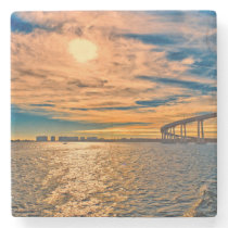 USA, CA, San Diego-Coronado Bay Bridge Stone Coaster