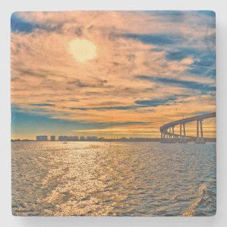 USA, CA, San Diego-Coronado Bay Bridge Stone Coaster