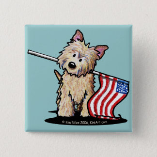 USA Cairn Terrier Dog Button