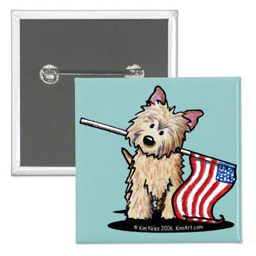 USA Cairn Terrier Dog Button