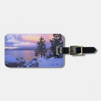USA, California. A winter day at Lake Tahoe. Bag Tag
