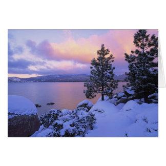 USA, California. A winter day at Lake Tahoe. Card