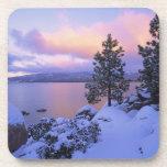 USA, California. A winter day at Lake Tahoe. Coaster