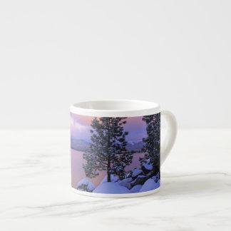 USA, California. A winter day at Lake Tahoe. Espresso Cup