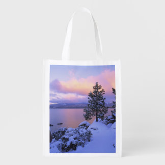 USA, California. A winter day at Lake Tahoe. Grocery Bag