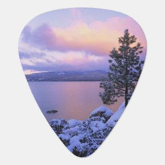 USA, California. A winter day at Lake Tahoe. Guitar Pick