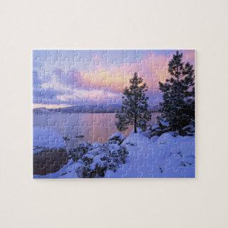 USA, California. A winter day at Lake Tahoe. Jigsaw Puzzle