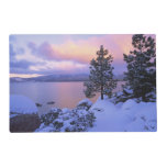 USA, California. A winter day at Lake Tahoe. Laminated Placemat