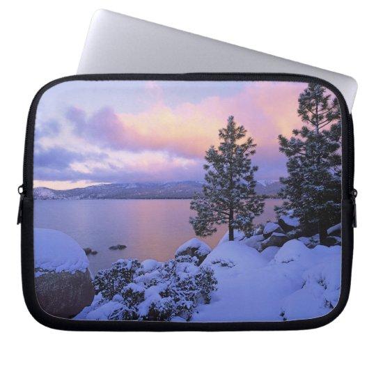 USA, California. A winter day at Lake Tahoe. Laptop Sleeve