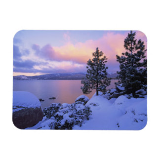 USA, California. A winter day at Lake Tahoe. Magnet