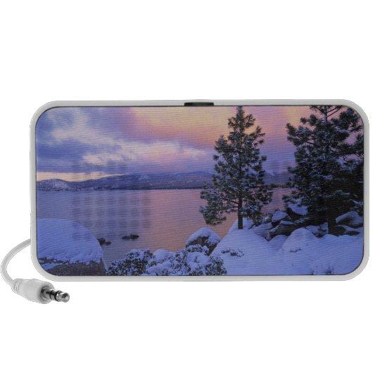 USA, California. A winter day at Lake Tahoe. Mini Speaker