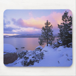 USA, California. A winter day at Lake Tahoe. Mouse Pad