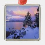 USA, California. A winter day at Lake Tahoe. Christmas Tree Ornament