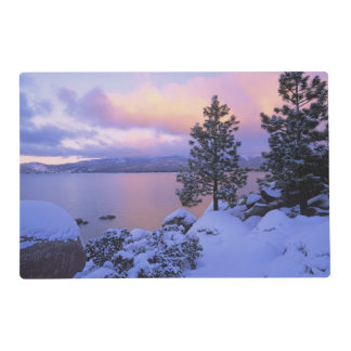 USA, California. A winter day at Lake Tahoe. Placemat