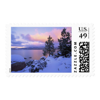 USA, California. A winter day at Lake Tahoe. Postage