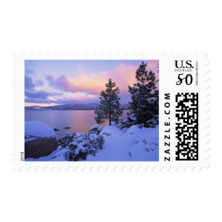 USA, California. A winter day at Lake Tahoe. Postage