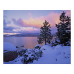 USA, California. A winter day at Lake Tahoe. Poster