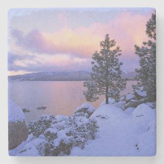 USA, California. A winter day at Lake Tahoe. Stone Coaster