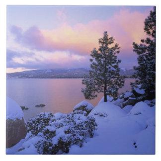 USA, California. A winter day at Lake Tahoe. Tiles