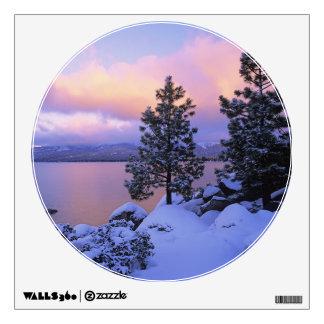 USA, California. A winter day at Lake Tahoe. Wall Sticker