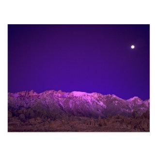 USA, California, Alabama Hills. Moonset over Postcard
