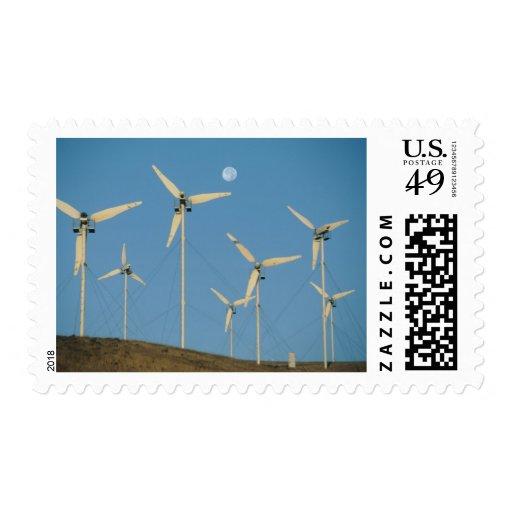 USA, California, Altamont Pass, wind generators. Postage