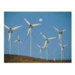 USA, California, Altamont Pass, wind generators. Postcard