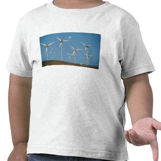 USA, California, Altamont Pass, wind generators. Shirt