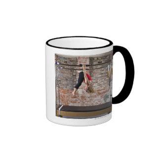 USA, California, Berkeley, Mid adult woman Ringer Coffee Mug