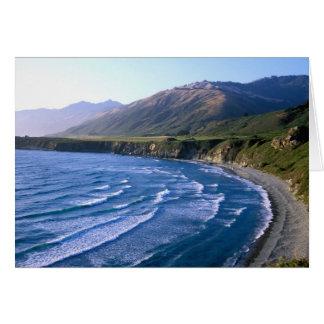 USA, California, Big Sur, bay along Highway 1. Greeting Card