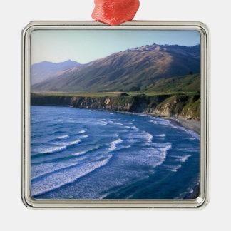 USA, California, Big Sur, bay along Highway 1. Metal Ornament