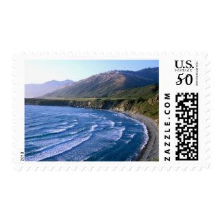 USA, California, Big Sur, bay along Highway 1. Postage
