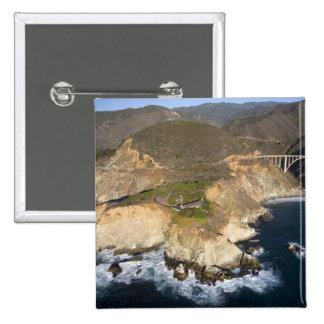 USA. California. Big Sur. Bixby Bridge Button