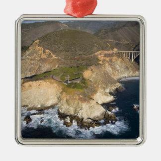 USA California Big Sur Bixby Bridge Christmas Ornaments
