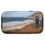 USA, California, Big Sur, Red plants by beach Samsung Galaxy S3 Case